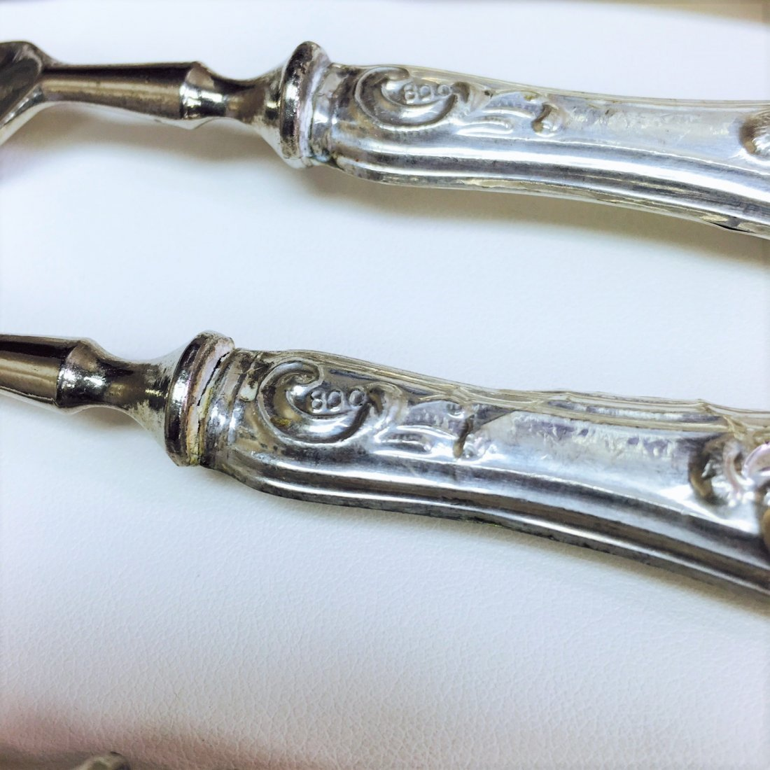 Antique and Very Rare, 800 Sterling Silver Spoon Set - 2