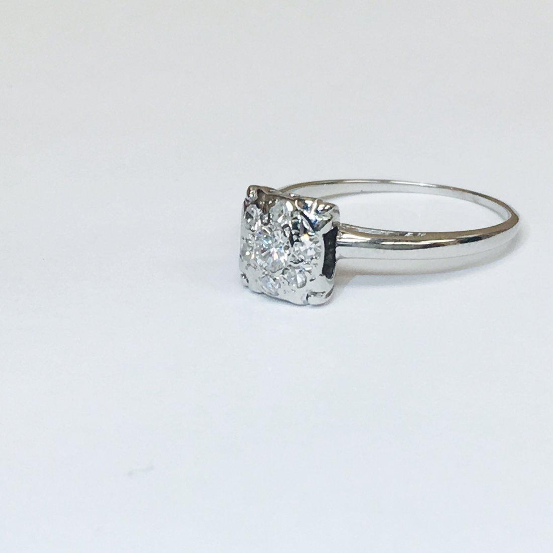 14K White Gold, VVS Clarity Diamond Ring - 3