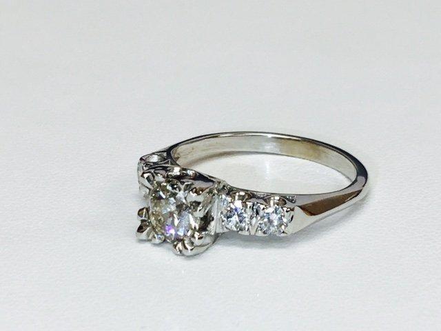1.35 Carat Diamonds VS clarity, 14K Engagement Ring - 3