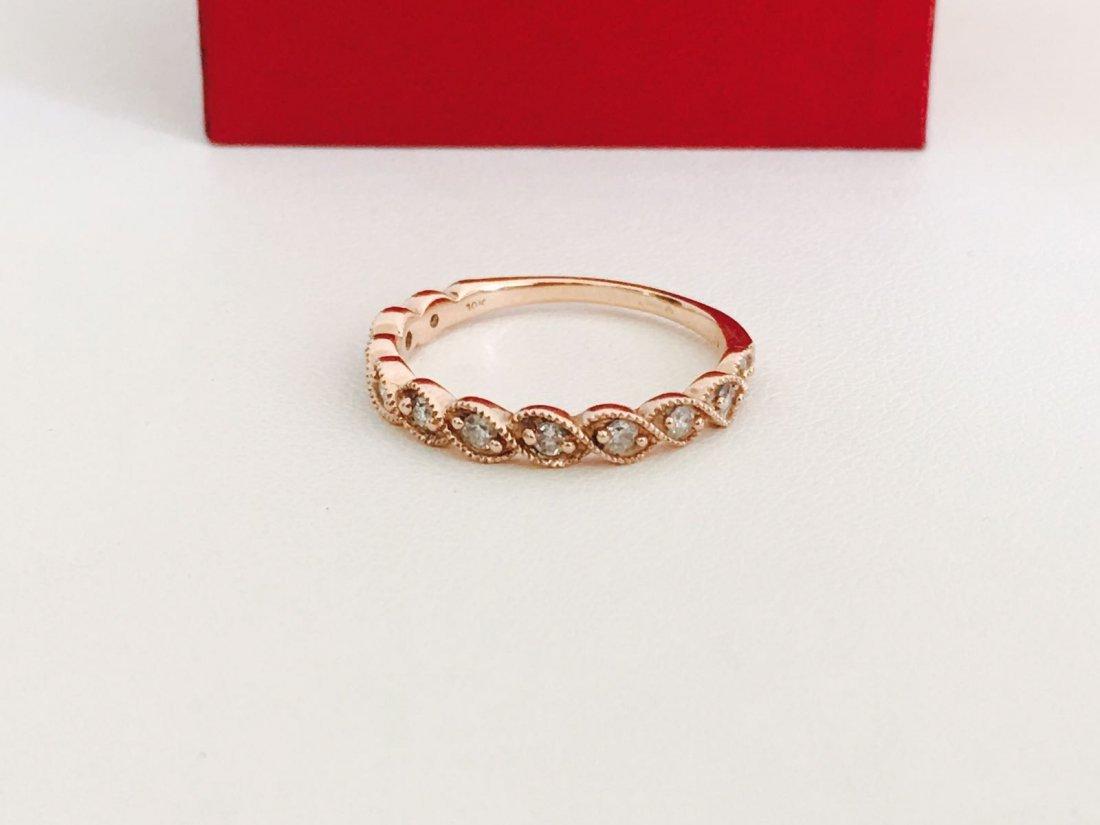 Rose Gold, Diamond Engagement Ring
