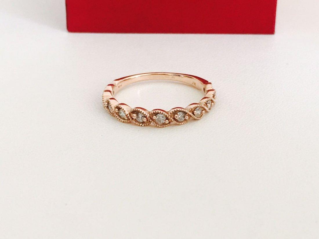 Rose Gold, Diamond Engagement Ring - 2