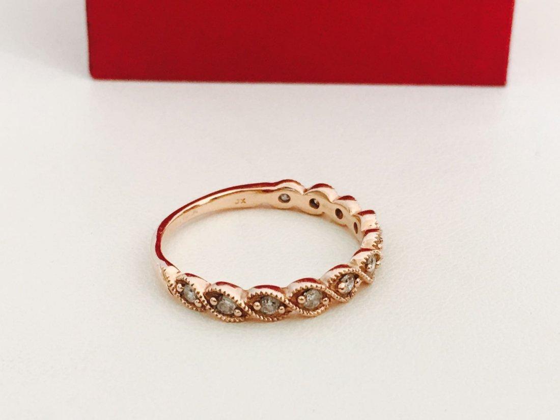 Rose Gold, Diamond Engagement Ring - 3