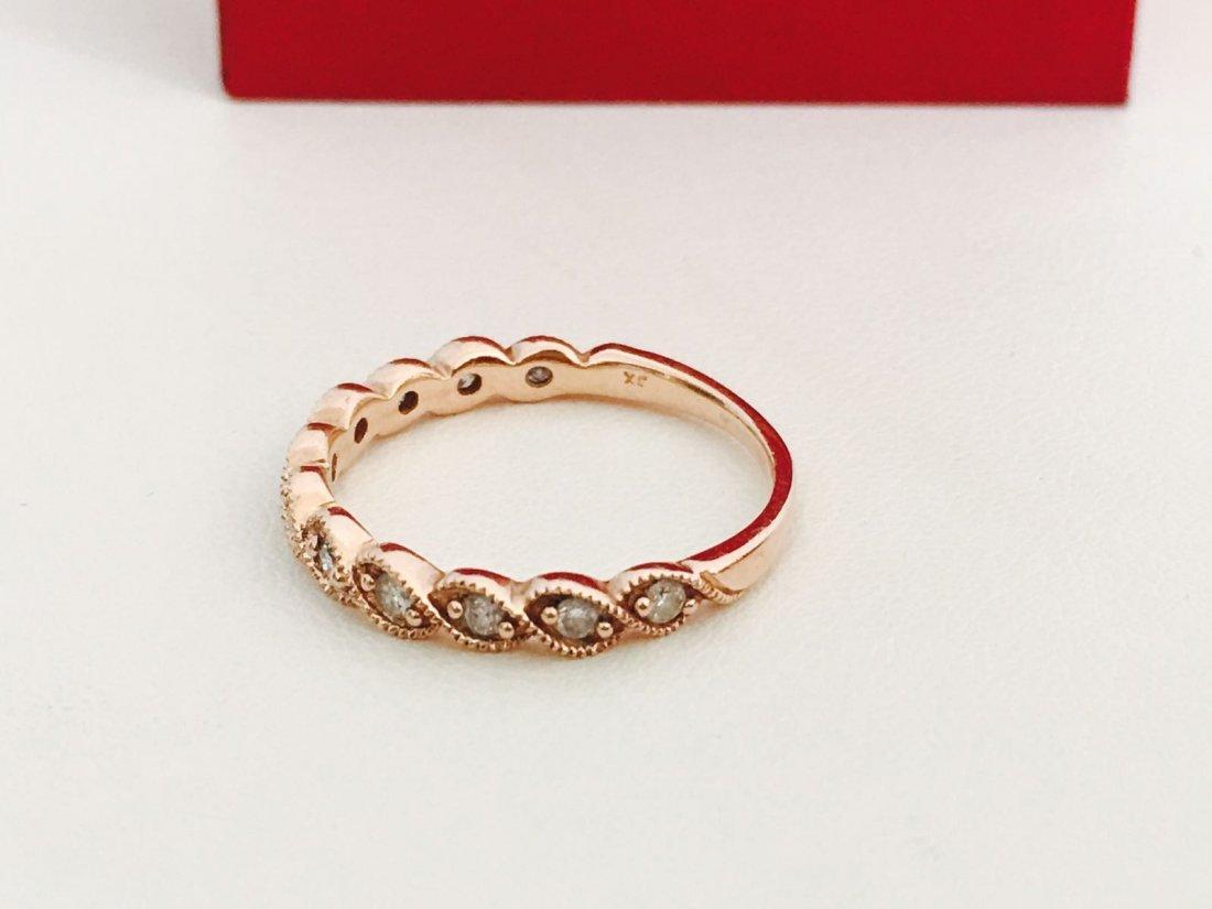Rose Gold, Diamond Engagement Ring - 4