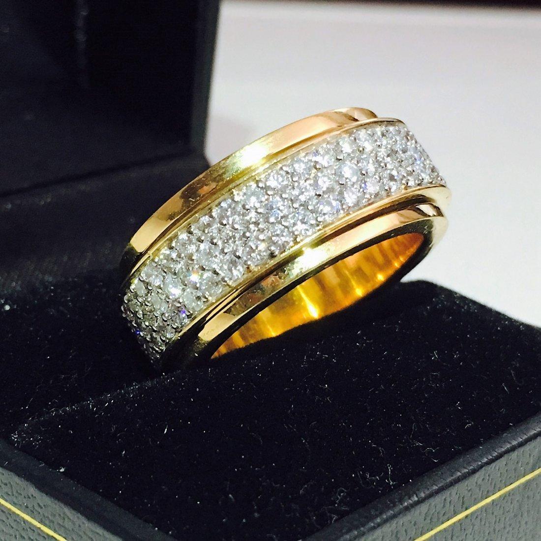 18k Yellow Gold, 4.50 Carat VVS Diamond Ring