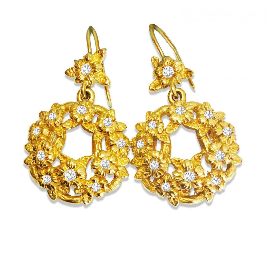 Stephen Dweck 18K GOLD & DIAMONDS Earrings