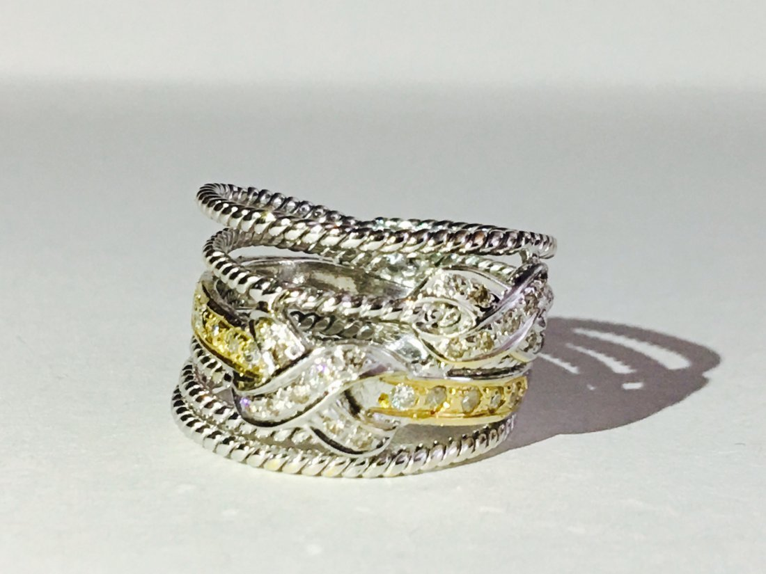 18k Yellow & White Gold Diamond Ring