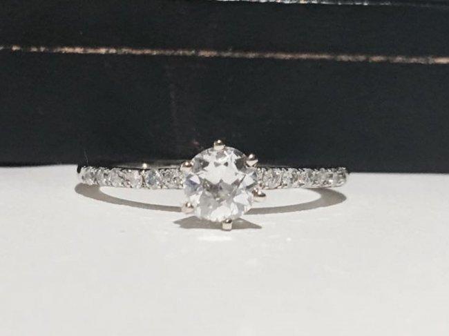14K White Gold, VS Diamond Engagement Ring