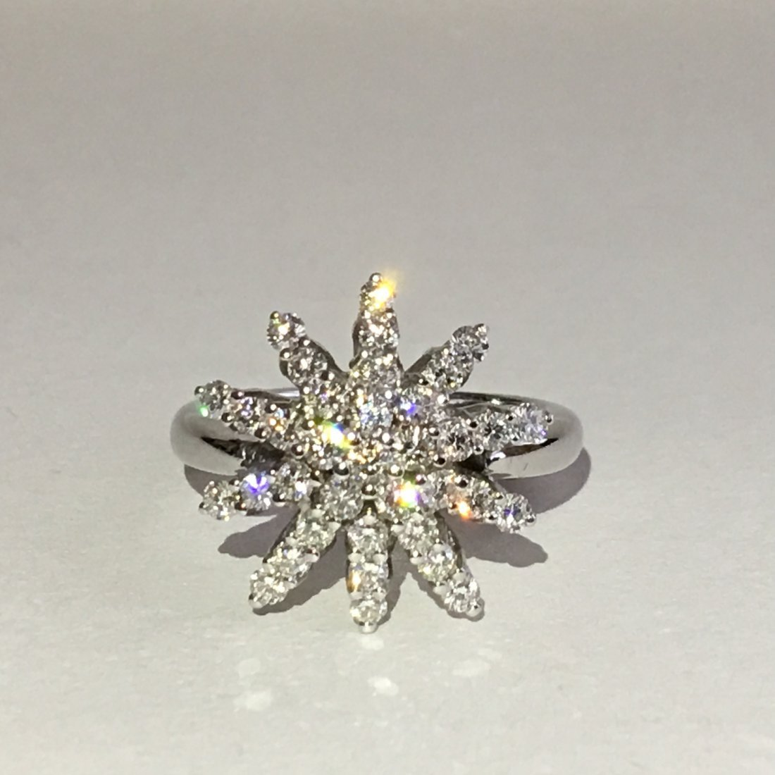 18K White Gold and Diamond Cocktail Ring