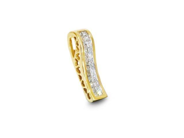 14k Yellow Gold & Diamond Pendant
