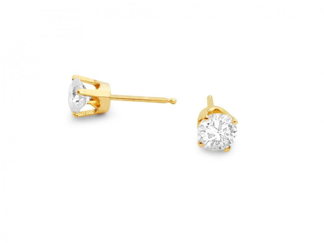 14K Yellow Gold and VS/FDiamond Studs/Earrings.