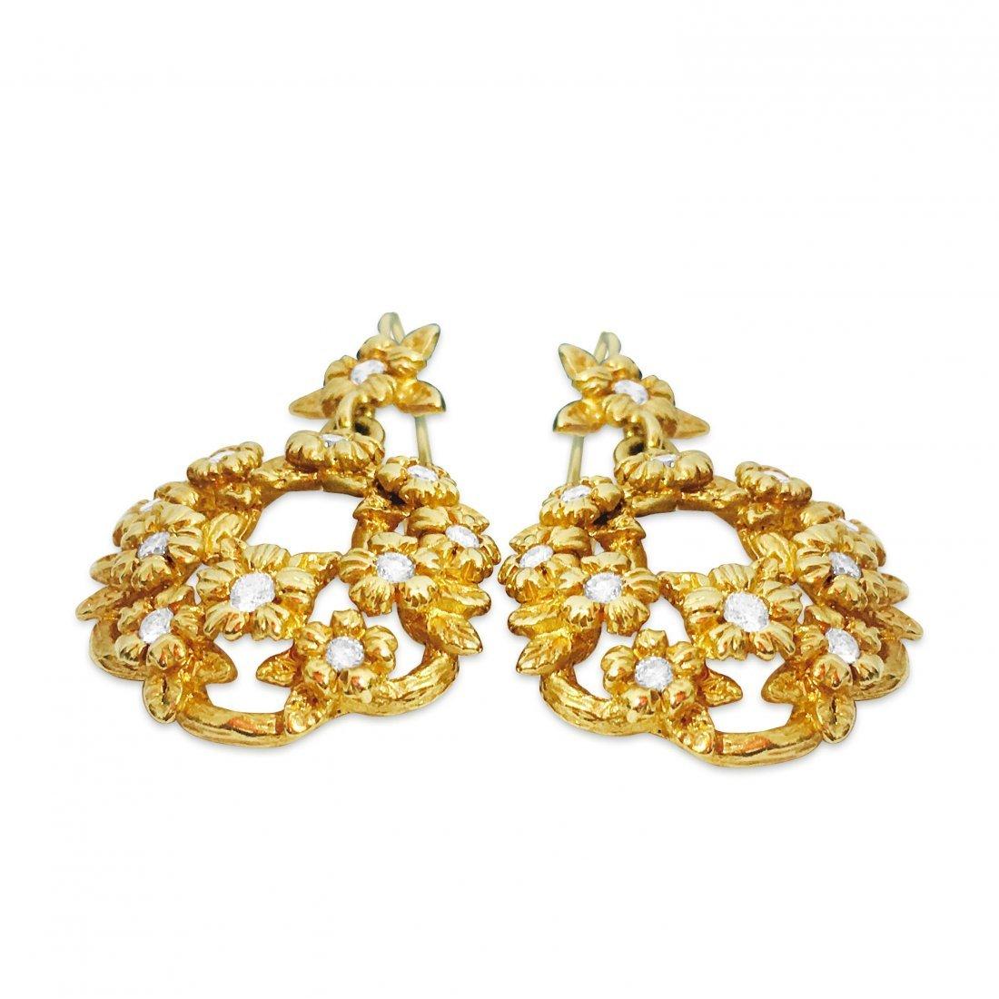 Stephen Dweck 18K GOLD & DIAMONDS Earrings - 2