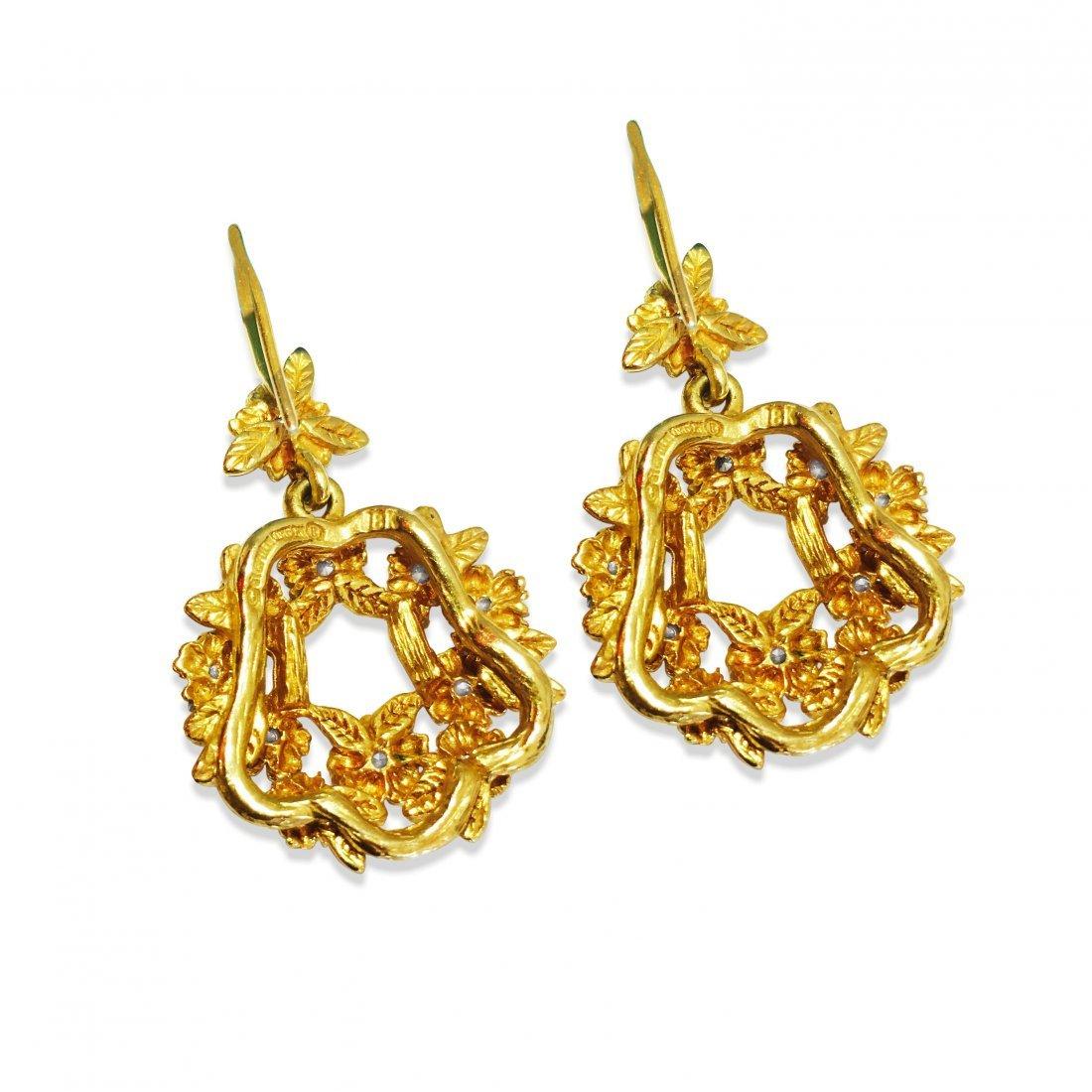 Stephen Dweck 18K GOLD & DIAMONDS Earrings - 3