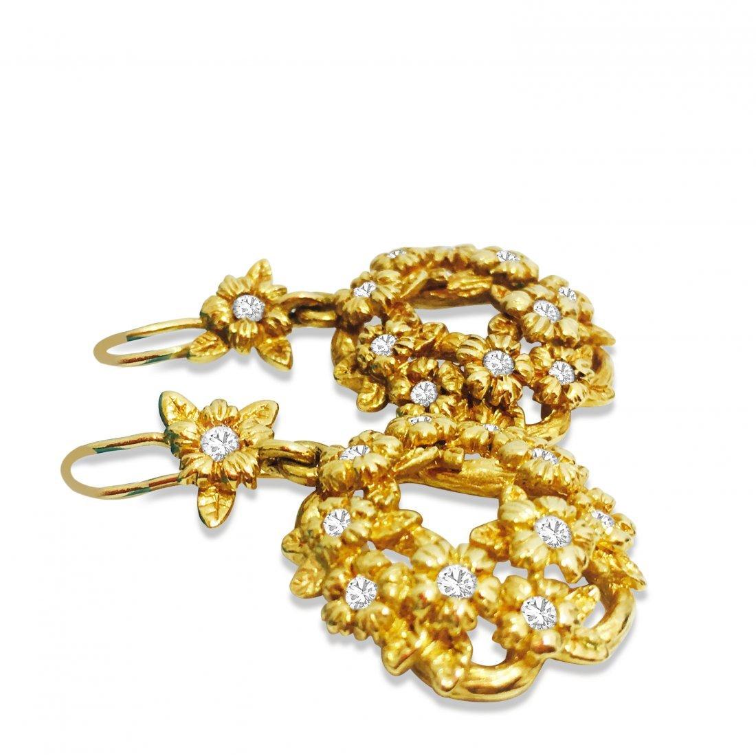 Stephen Dweck 18K GOLD & DIAMONDS Earrings - 4