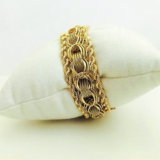 Vintage 14K Yellow Gold Bracelet - 3