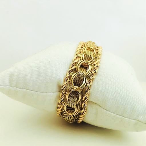 Vintage 14K Yellow Gold Bracelet - 4