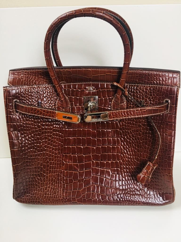 Hermes Alligator Leather Bag! 100% Genuine & Authentic