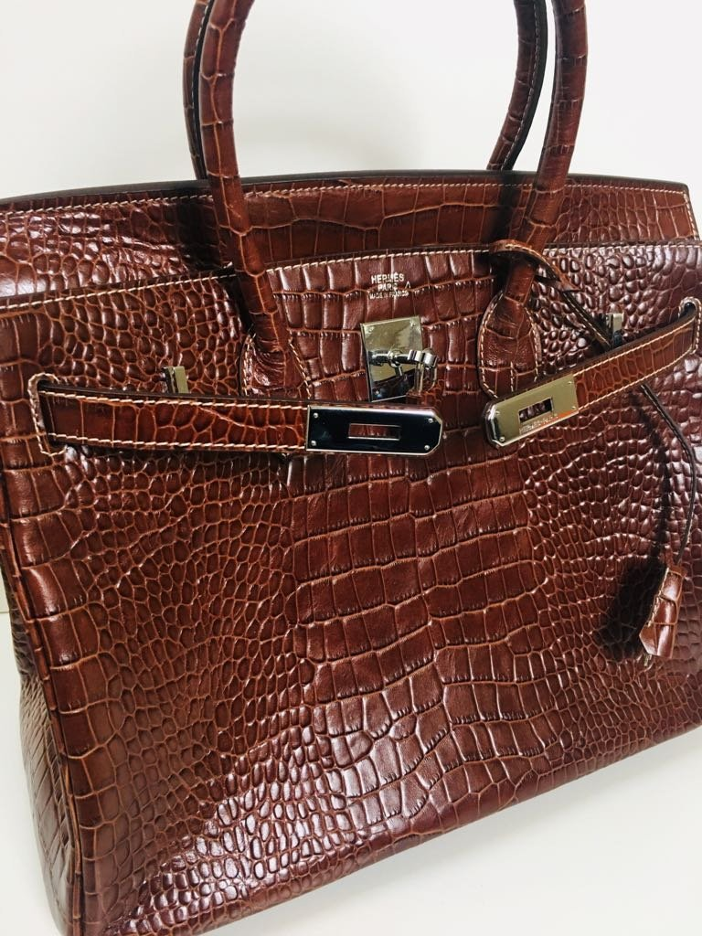 Hermes Alligator Leather Bag! 100% Genuine & Authentic - 3