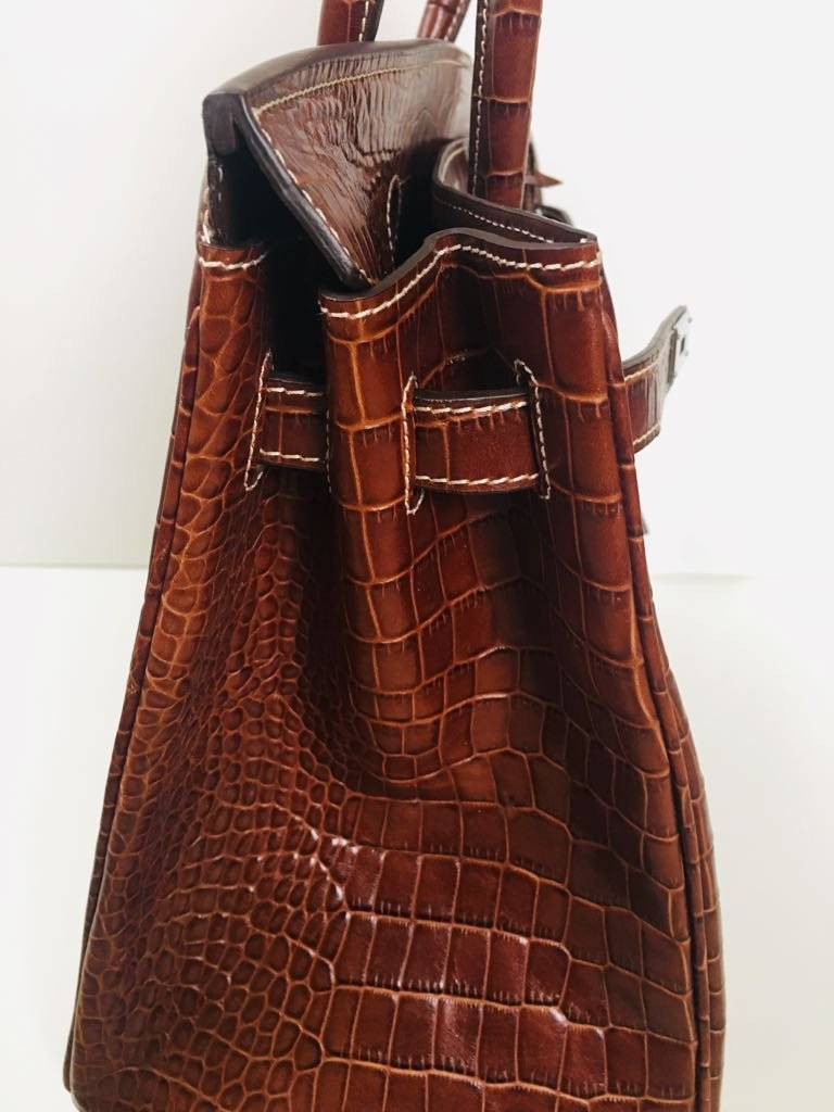 Hermes Alligator Leather Bag! 100% Genuine & Authentic - 5