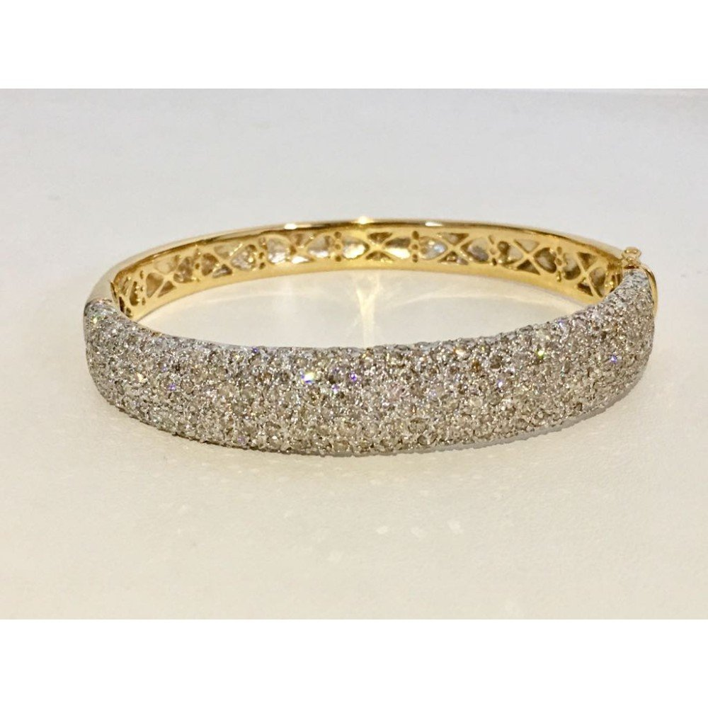 18K Yellow Gold, 6CT White VS/G Diamond Bracelet