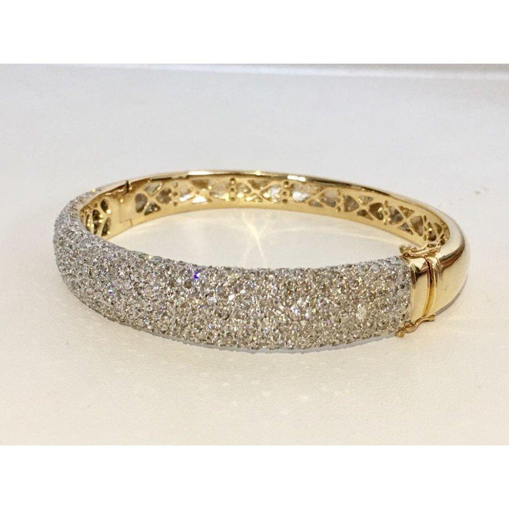 18K Yellow Gold, 6CT White VS/G Diamond Bracelet - 3
