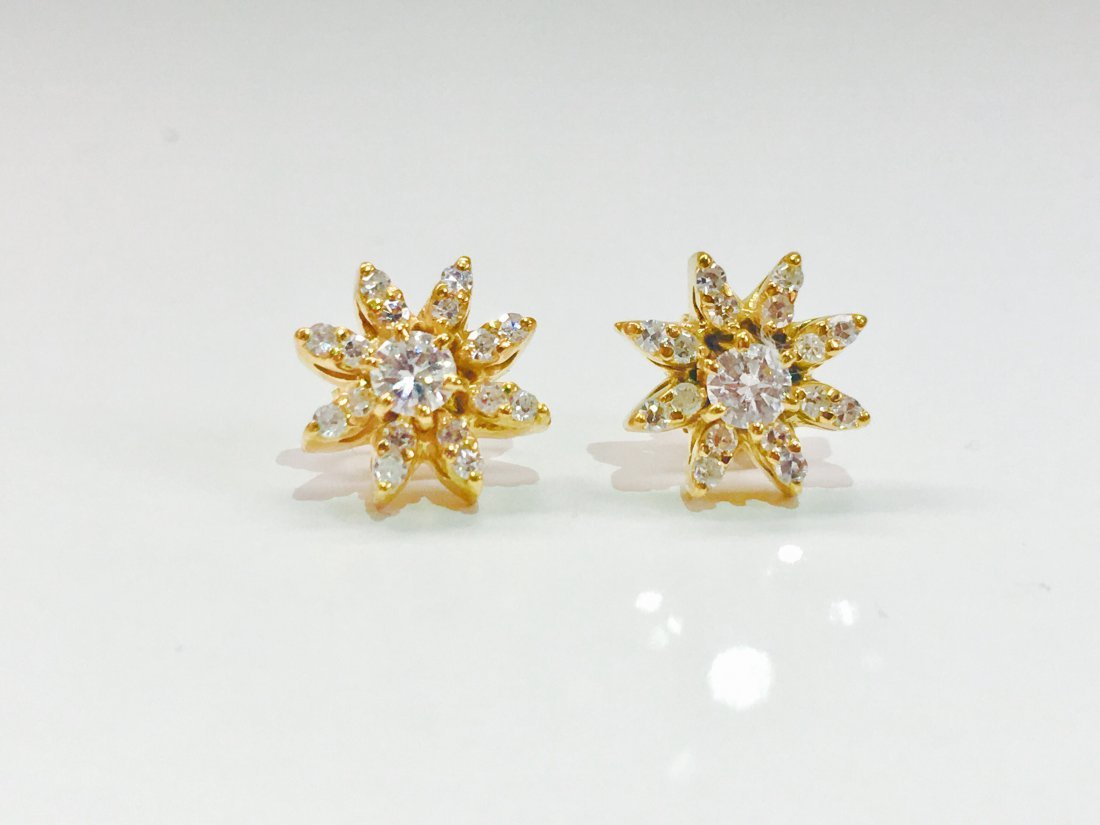 14K gold, 1.00 CT VS Clarity & G color Diamond Earrings