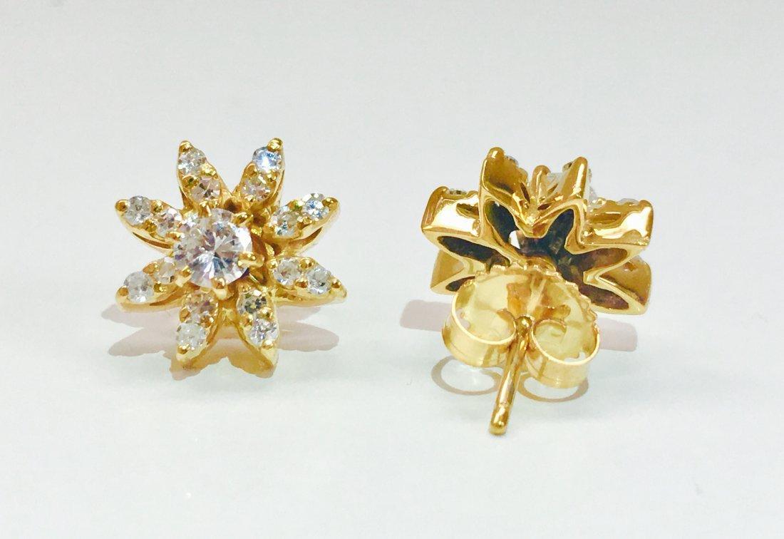 14K gold, 1.00 CT VS Clarity & G color Diamond Earrings - 4