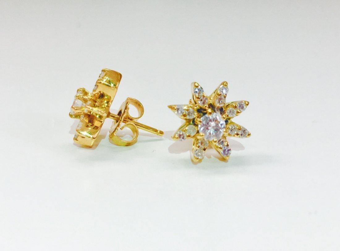 14K gold, 1.00 CT VS Clarity & G color Diamond Earrings - 5