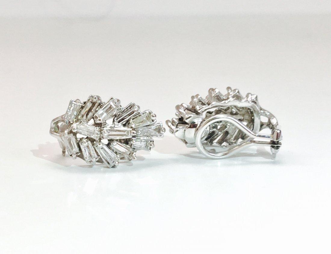14K Gold, 4.20 Carat G color Diamond Earrings - 3