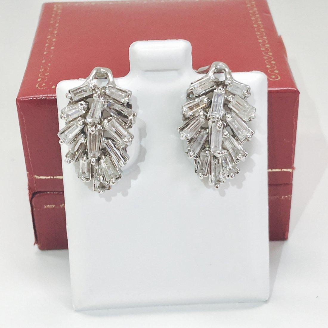 14K Gold, 4.20 Carat G color Diamond Earrings - 4