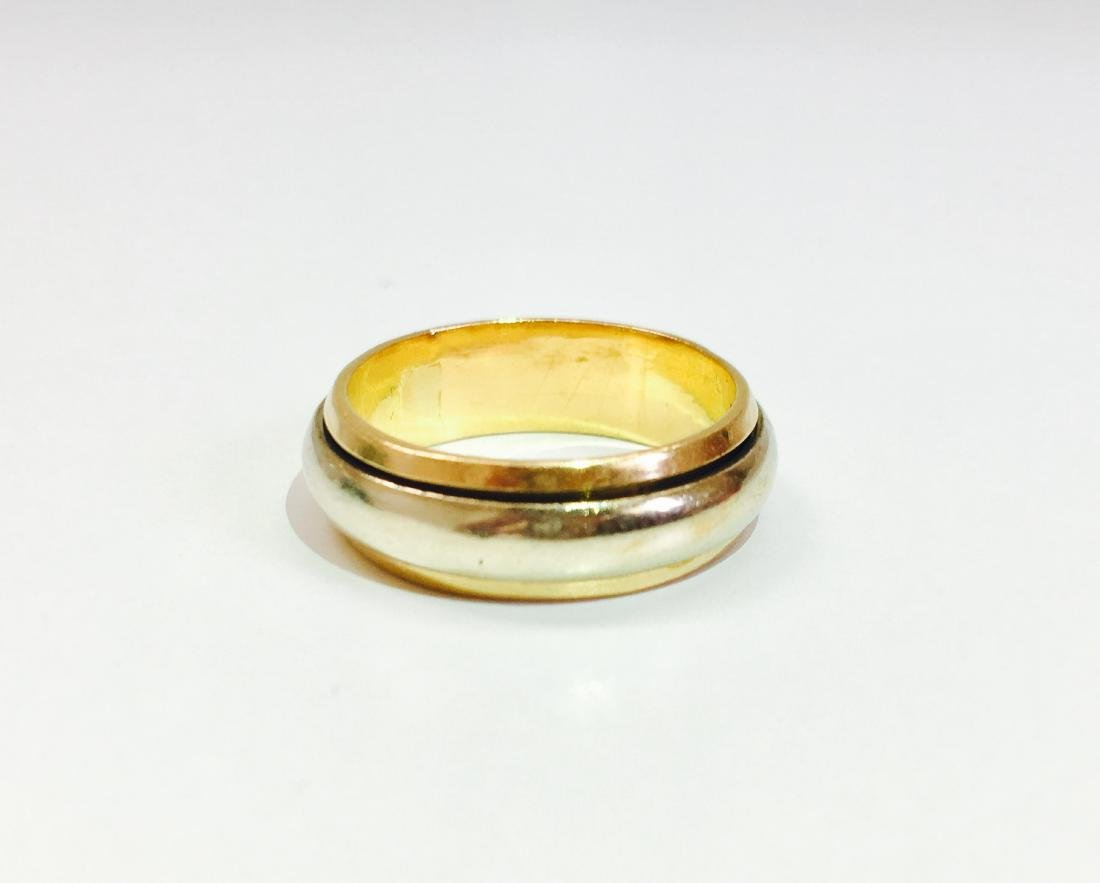 22K Yellow Gold and Rotating Platinum Band