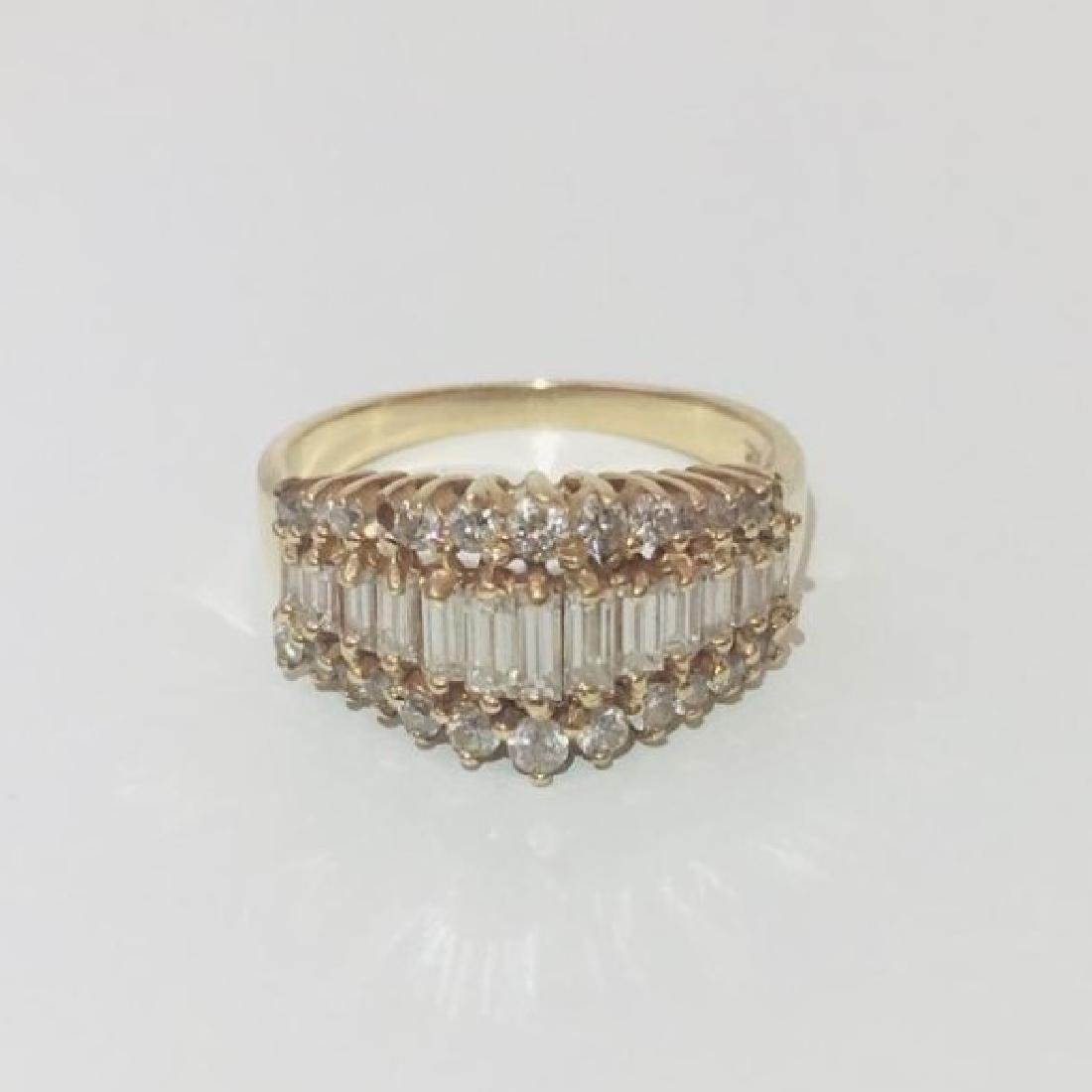 14K Yellow Gold, 1ct VS - F Diamond Ring