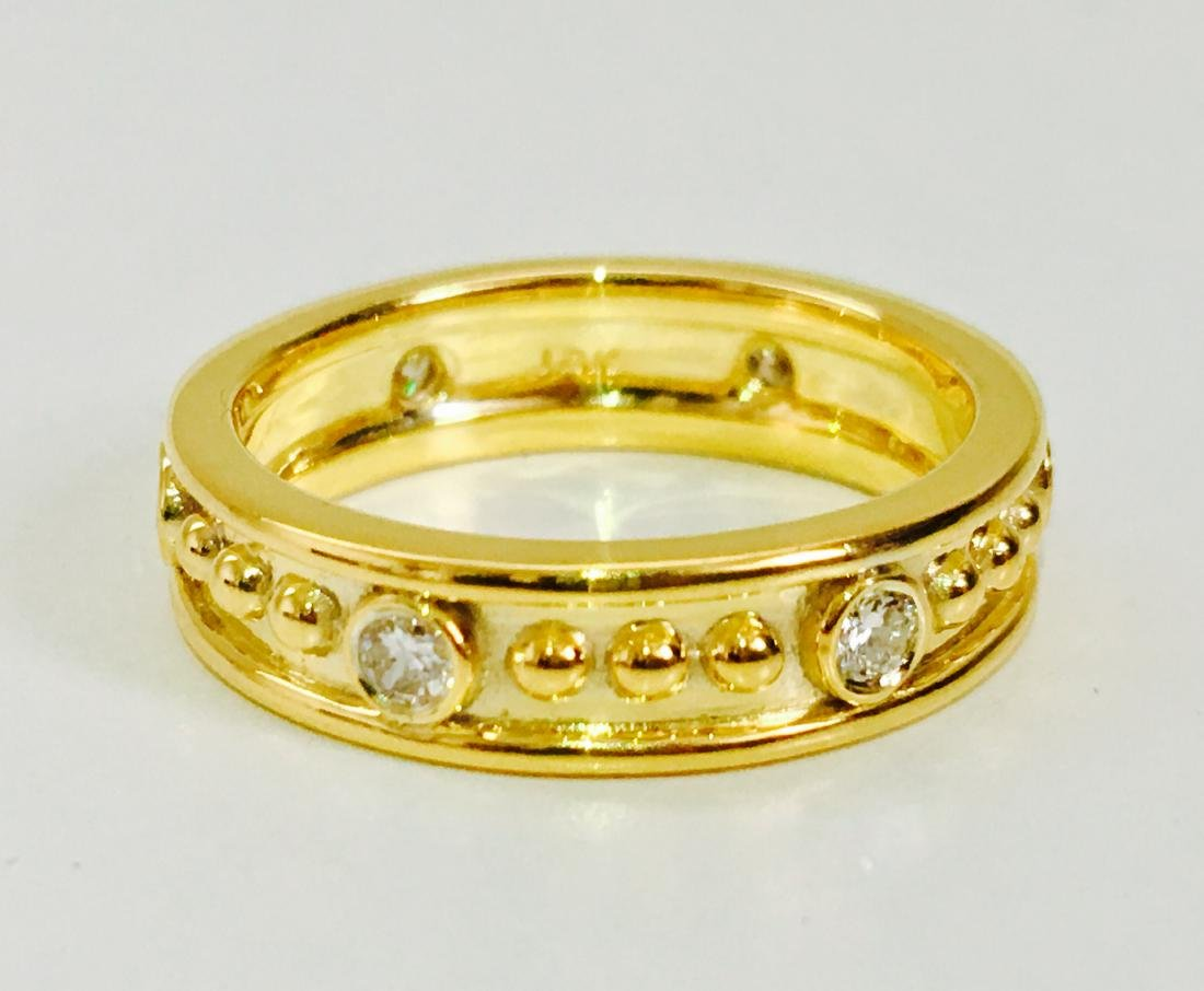 18K gold, 0.48 CT diamond band. VS clarity and G color. - 4