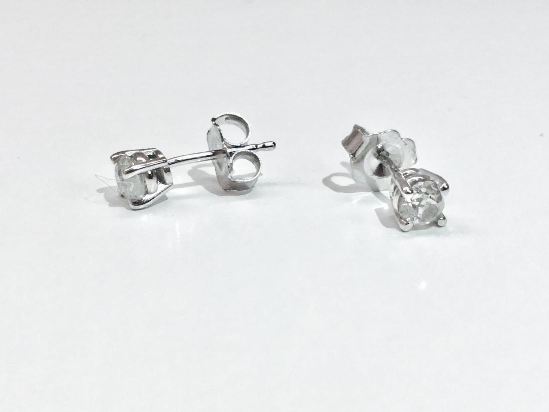 14K white gold, 0.50 CT old mind diamond earrings/studs - 3
