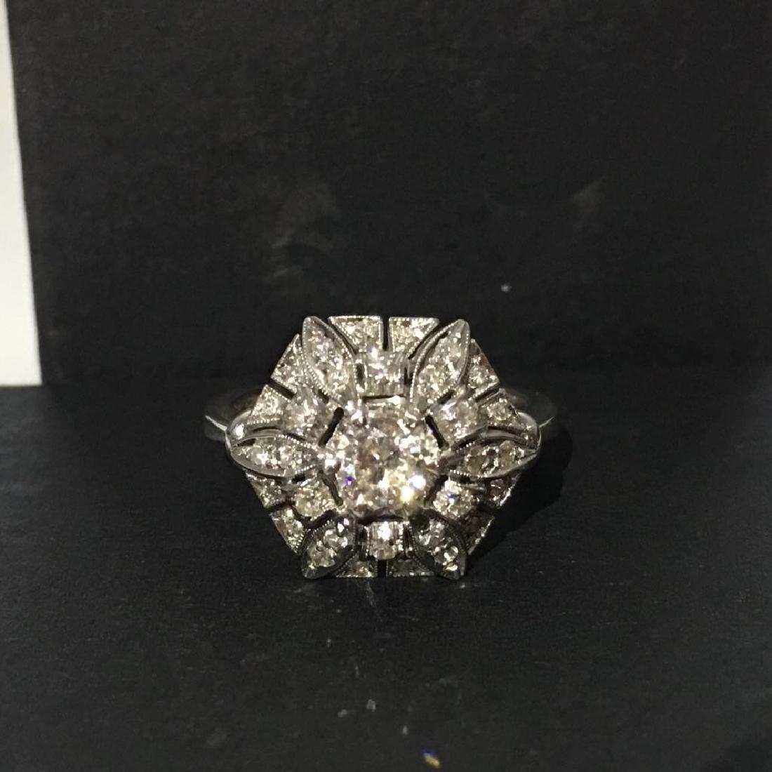18K White Gold, 2.05 Carat VS-G Vintage Diamond Ring
