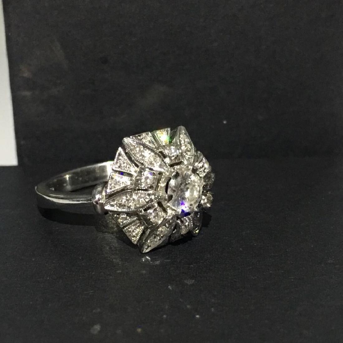 18K White Gold, 2.05 Carat VS-G Vintage Diamond Ring - 2