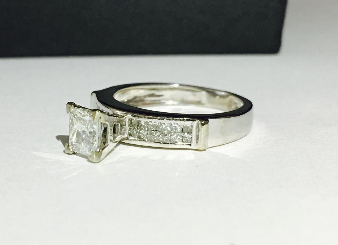 14k White Gold Princess Cut Diamond Ring - 2