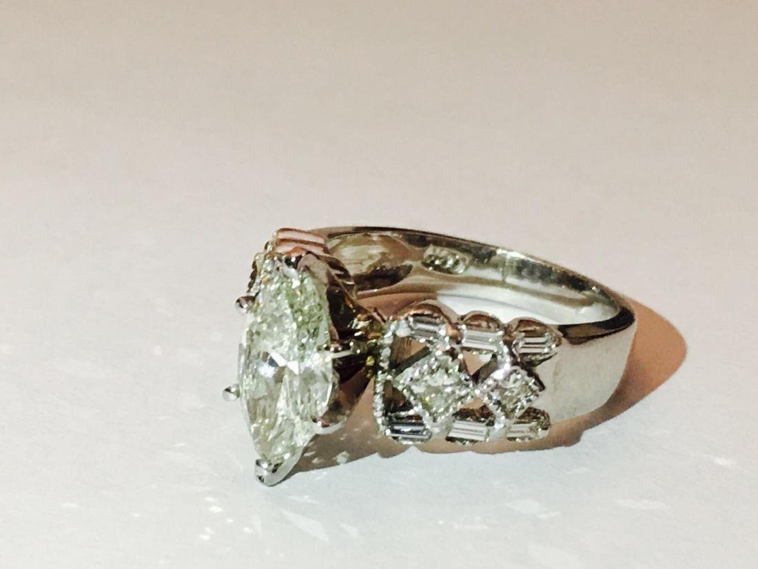 14K Gold, 2.35 CARAT Diamond Engagement Ring Certified - 2
