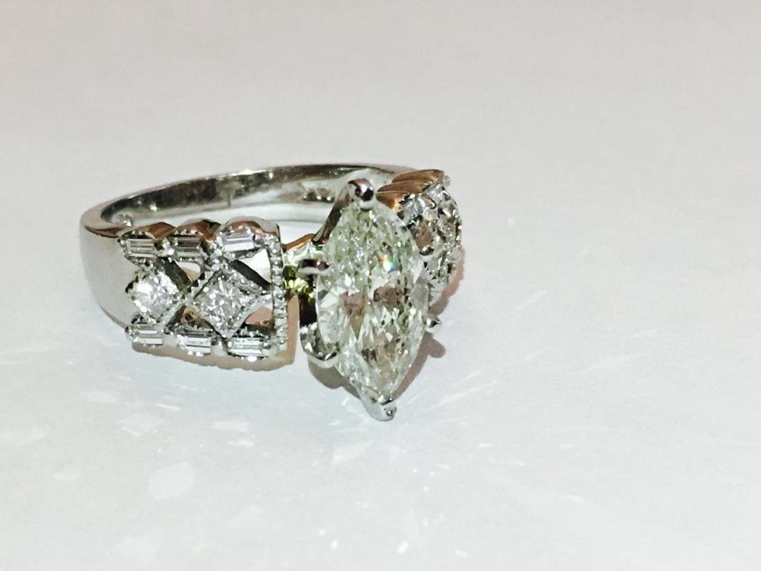 14K Gold, 2.35 CARAT Diamond Engagement Ring Certified - 3