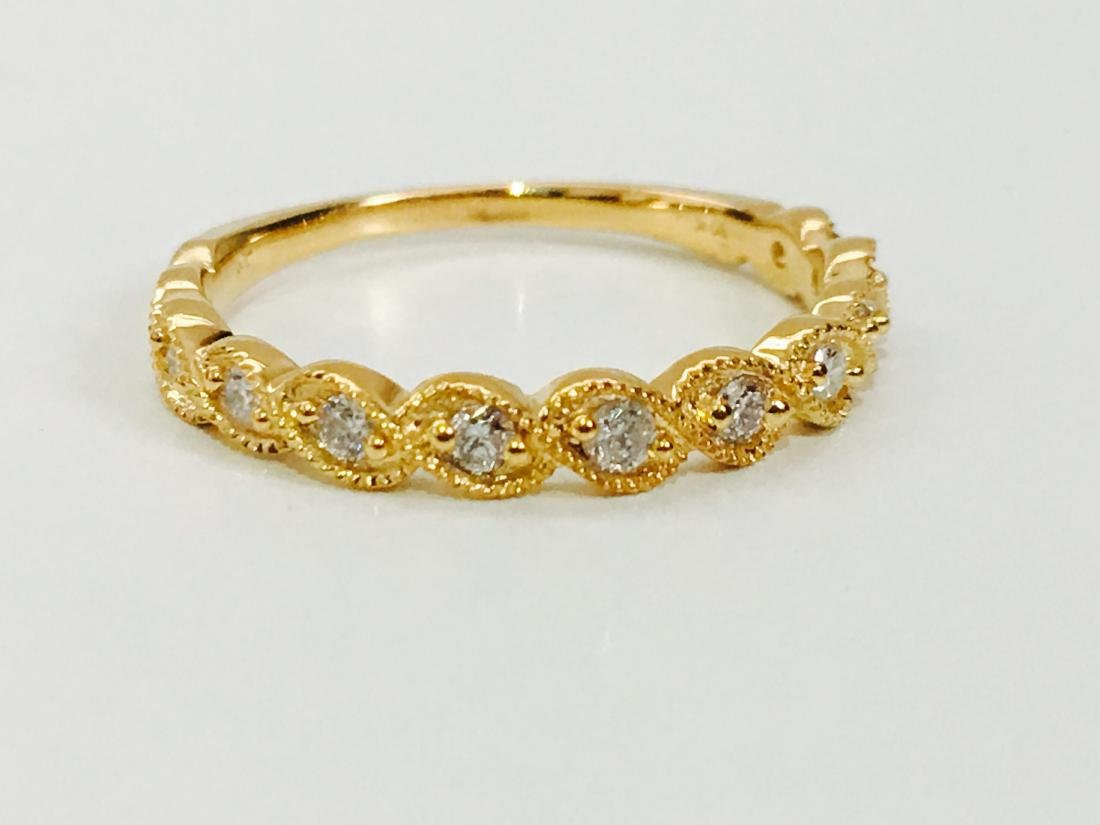 Yellow Gold, G color Diamond Engagement Ring