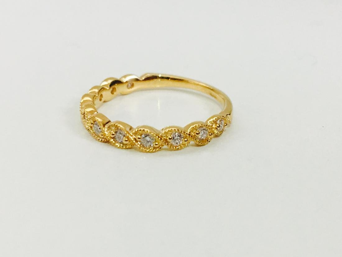 Yellow Gold, G color Diamond Engagement Ring - 2