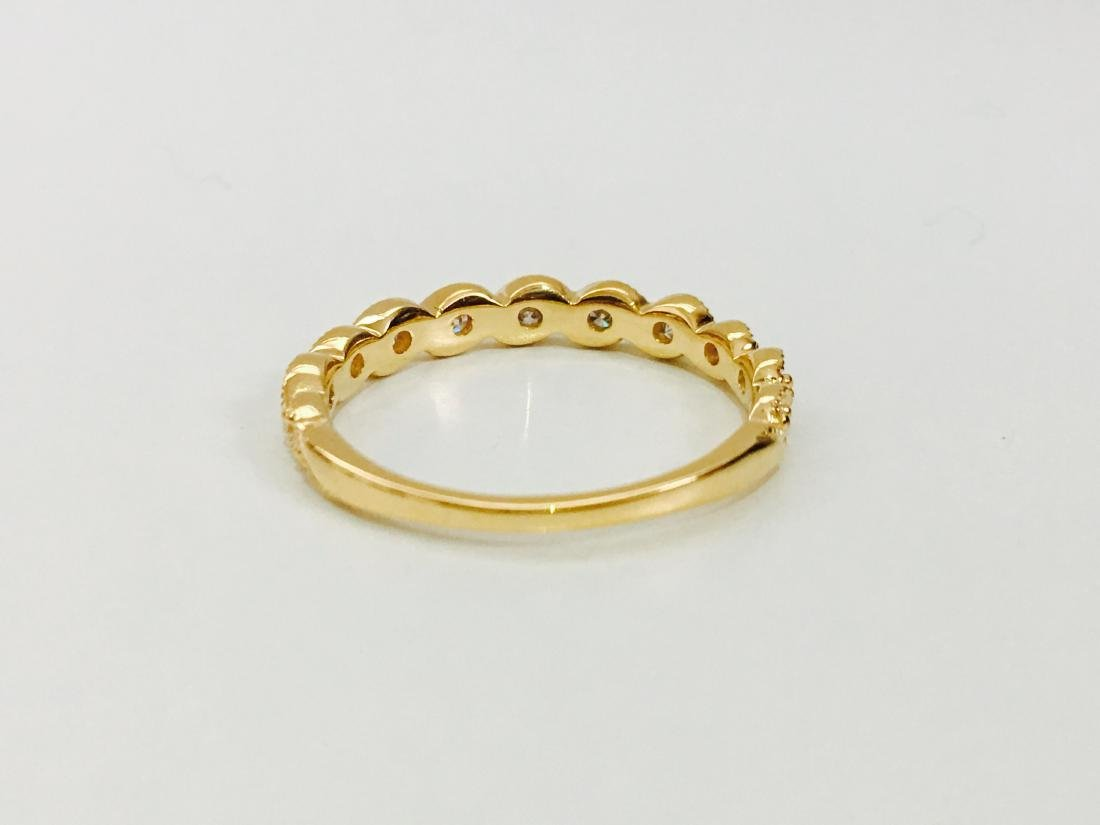 Yellow Gold, G color Diamond Engagement Ring - 4