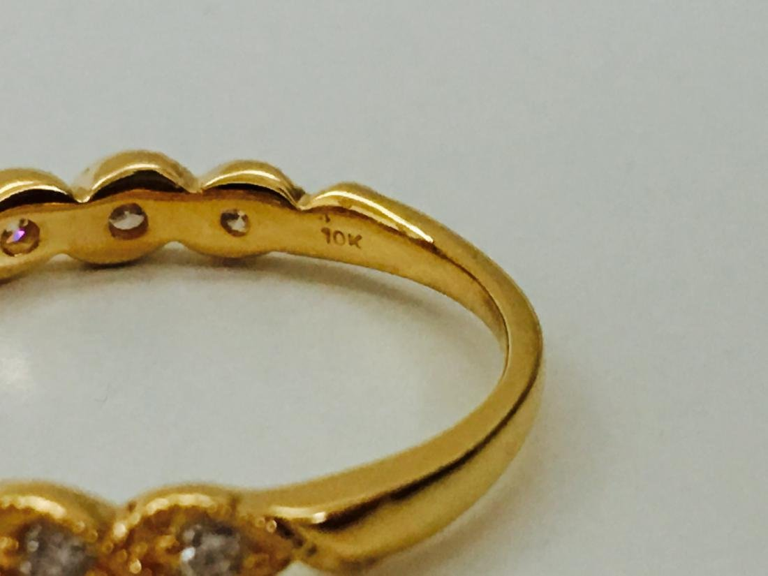 Yellow Gold, G color Diamond Engagement Ring - 5