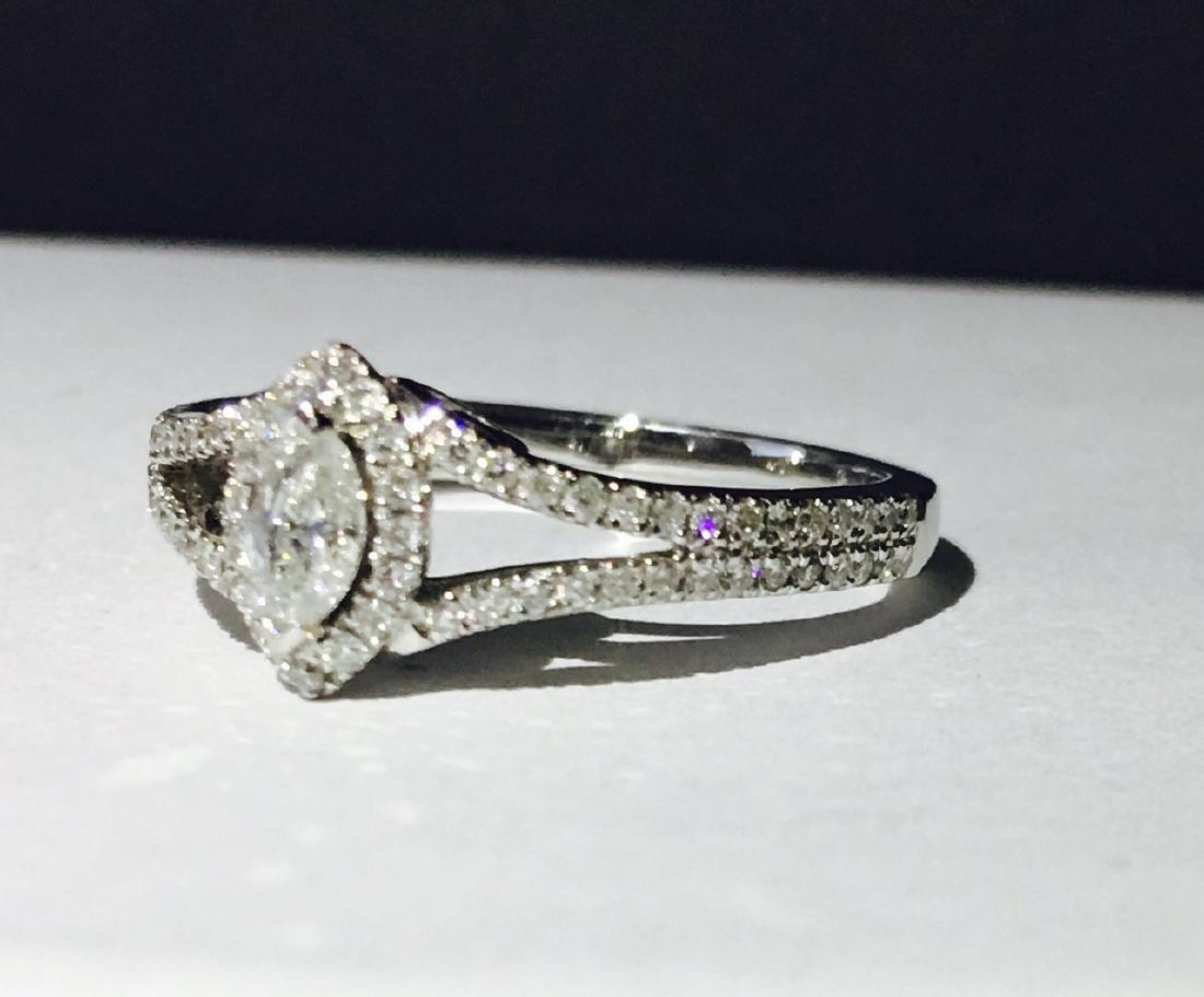 14K white gold, 0.48 carat Diamond Engagement Ring - 2