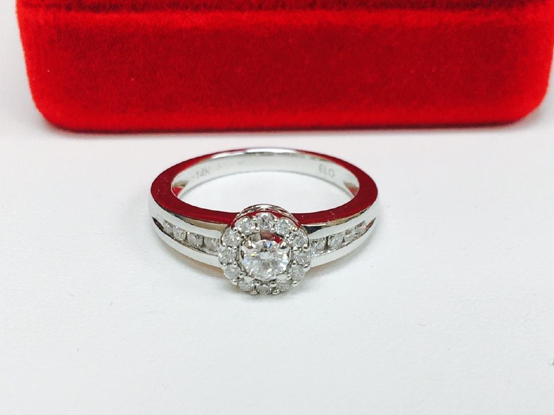 14K Gold, F color Diamond Engagement/Wedding Ring