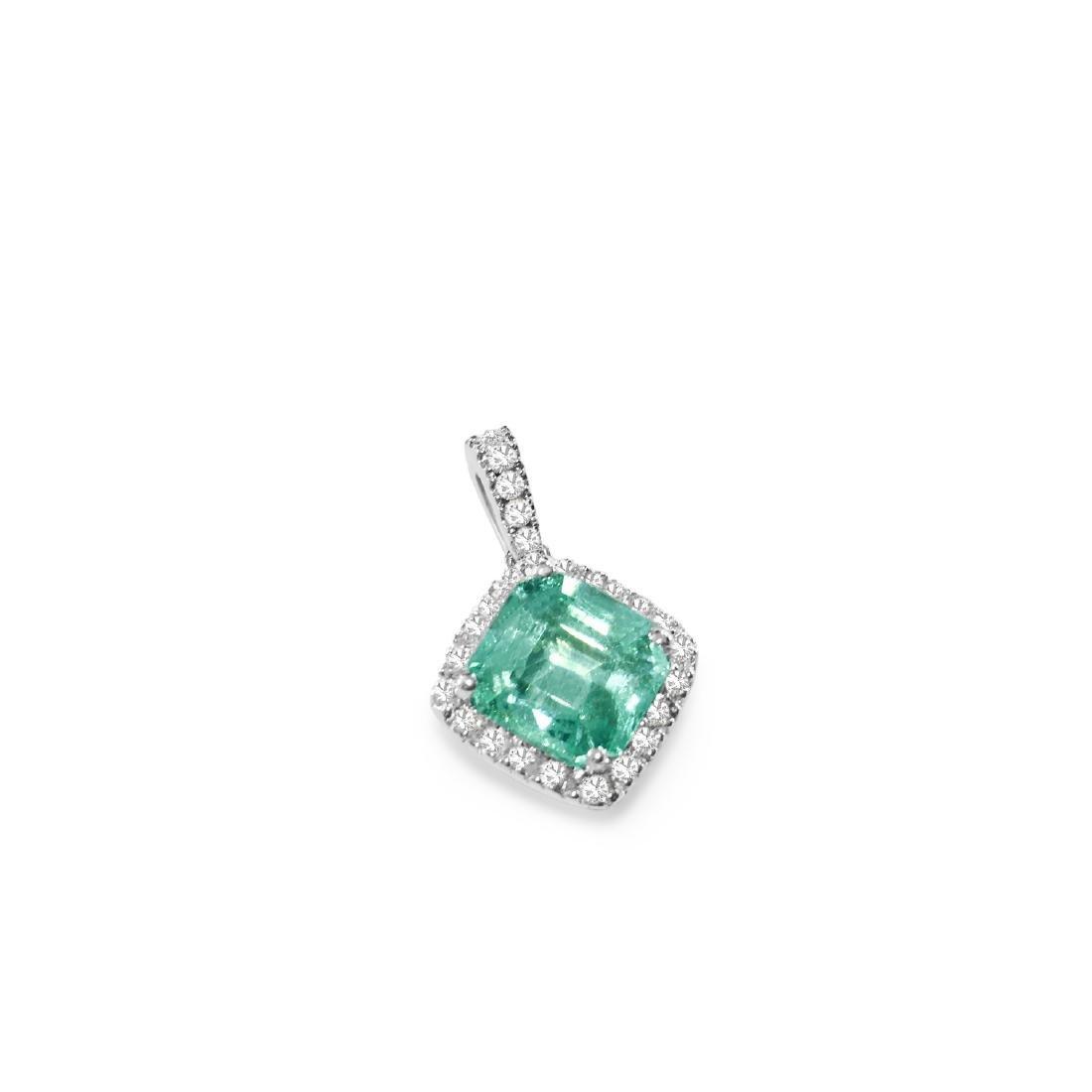 14k Gold, 4.00 Carat Emerald & Diamond Pendant. $12,000 - 2
