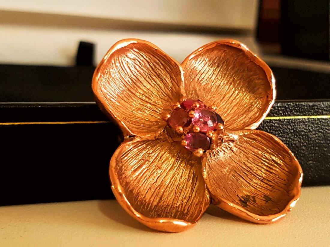 Rose Gold and Multi Colored Sapphire Pendant - 3