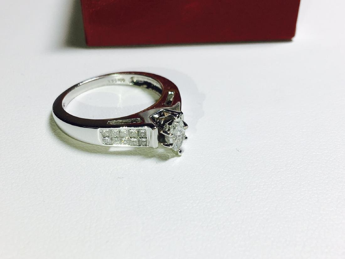 1.00 CTW VS-SI Marquise Diamond Engagement Ring - 2