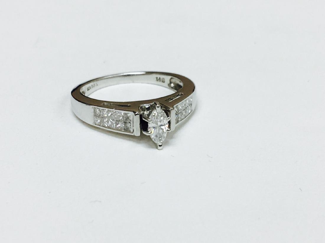 1.00 CTW VS-SI Marquise Diamond Engagement Ring - 3