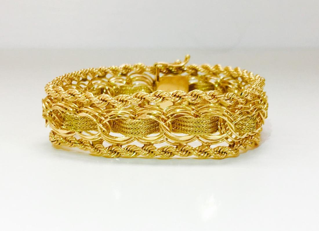 Vintage; 33.04 Grams 14K Yellow Gold Bracelet