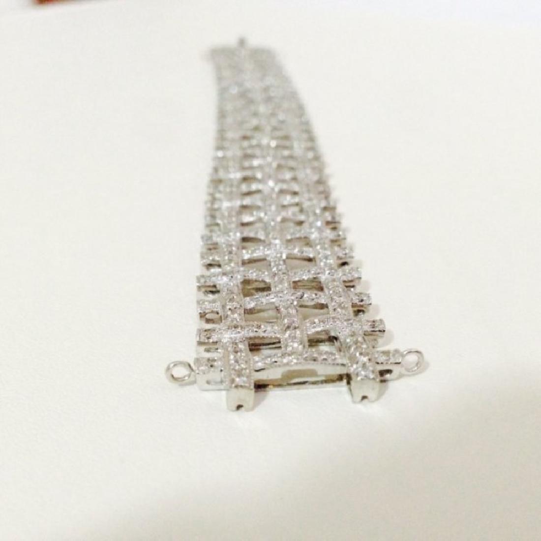 5 CARAT DIAMOND BRACELET SET IN 14K WHITE GOLD $17,750 - 2